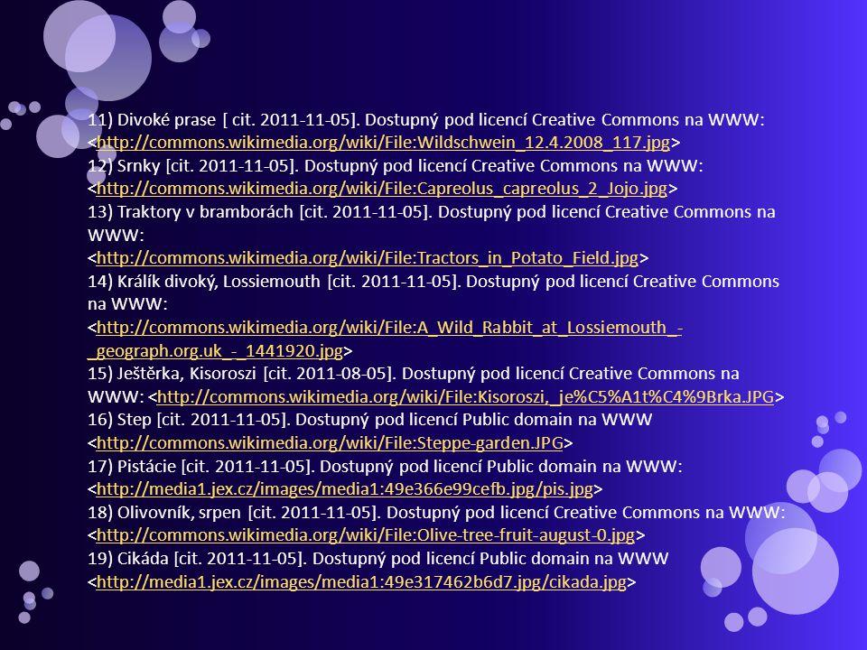 11) Divoké prase [ cit. 2011-11-05]. Dostupný pod licencí Creative Commons na WWW: